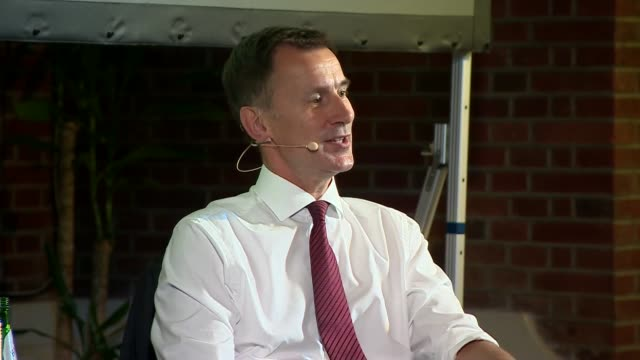 jeremy hunt in conversation with andrew neil uk london westminster jeremy hunt interview with andrew neil part 7 london westminster int jeremy hunt... - andrew neil stock videos and b-roll footage
