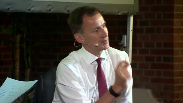 jeremy hunt in conversation with andrew neil uk london westminster jeremy hunt interview with andrew neil part 8 london westminster int jeremy hunt... - andrew neil stock videos and b-roll footage