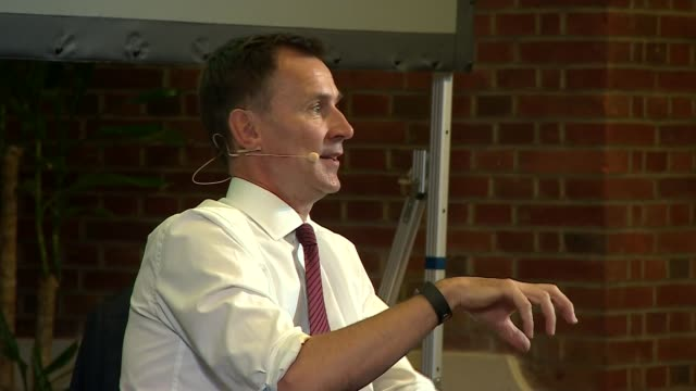 jeremy hunt in conversation with andrew neil; uk, london, westminster: jeremy hunt q&a with andrew neil, part 8. england: london: westminster: int... - andrew neil stock videos & royalty-free footage