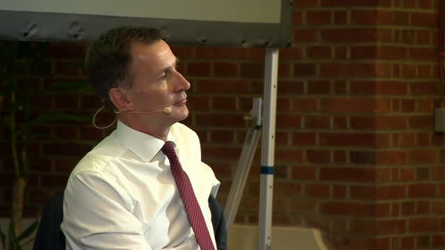 jeremy hunt in conversation with andrew neil; uk, london, westminster: jeremy hunt q&a with andrew neil, part 4. england: london: westminster: int... - andrew neil stock videos & royalty-free footage