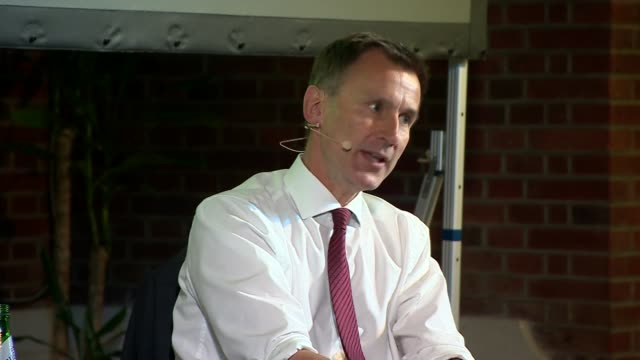 jeremy hunt in conversation with andrew neil uk london westminster jeremy hunt interview with andrew neil part 4 london westminster int jeremy hunt... - andrew neil stock videos & royalty-free footage