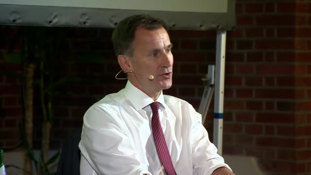 jeremy hunt in conversation with andrew neil uk london westminster jeremy hunt interview with andrew neil part 2 london westminster int jeremy hunt... - andrew neil stock videos and b-roll footage