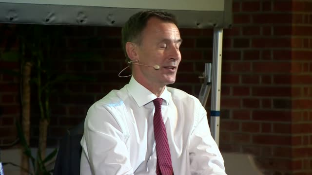jeremy hunt in conversation with andrew neil uk london westminster jeremy hunt interview with andrew neil part 1 london westminster int jeremy hunt... - andrew neil stock videos and b-roll footage