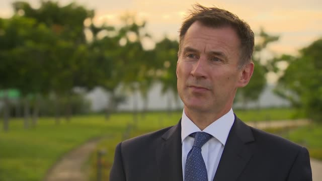 Jeremy Hunt meets Aung San Suu Kyi and interview MYANMAR Naypyidaw INT Jeremy Hunt MP interview SOT On Burma making first steps towards democracy /...