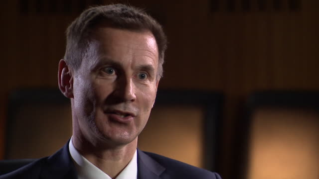 jeremy hunt responds to the suggestion that planning for how the nhs would cope with increased winter demand wasn't adequate, january 2018. - scrutiny stock videos & royalty-free footage