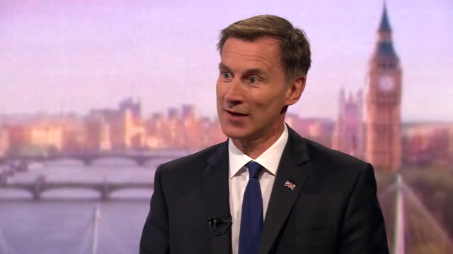 jeremy hunt saying boris johnson has avoided a oneonone debate with him - scrutiny stock videos & royalty-free footage