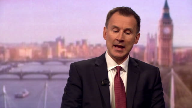 Jeremy Hunt saying he has met Matthew Hedges' wife Daniela Tejada who has been 'very brave' and that he hopes to find a solution with the UAE
