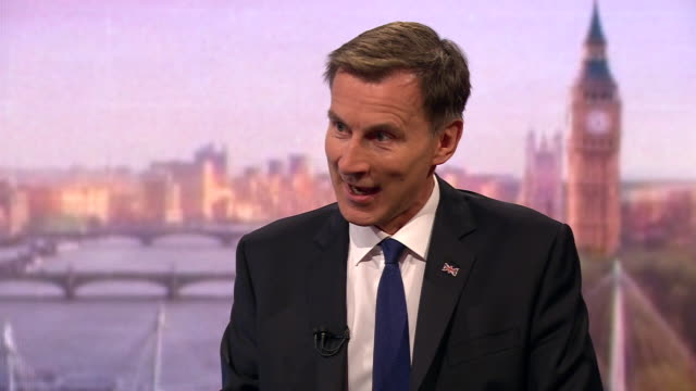 stockvideo's en b-roll-footage met jeremy hunt saying he wants both the union of the uk and the brexit - andrew marr