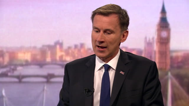 stockvideo's en b-roll-footage met jeremy hunt saying he will put together a team of the best negotiators in the business to try and get a brexit deal with the eu if he were to become... - andrew marr
