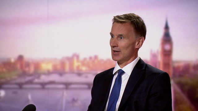 """jeremy hunt saying """"the balance of opinion has moved to learning to live with covid"""" - balance stock videos & royalty-free footage"""