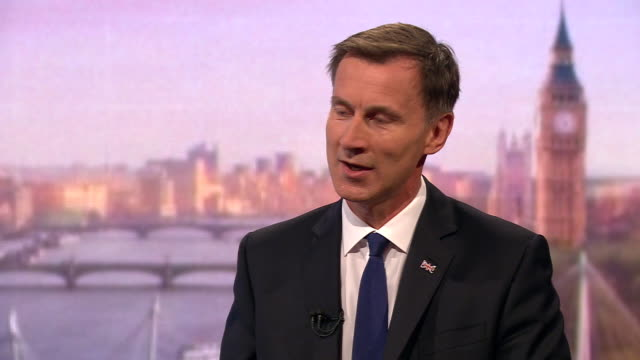 jeremy hunt saying the uk could increase its growth rate by cutting corporation tax - growth stock videos & royalty-free footage