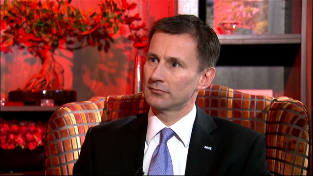 jeremy hunt speech and interview; jeremy hunt interview sot - this is about what doctors and nurses on front line want - they want culture in nhs,... - staphylococcus aureus stock videos & royalty-free footage