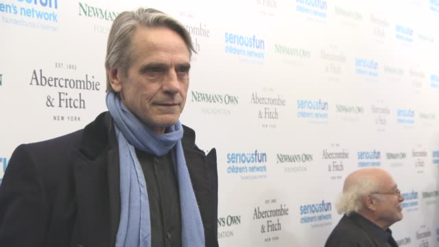 jeremy irons at seriousfun children's network hosts star studded gala to celebrate the legacy of paul newman at the roundhouse on november 03 2015 in... - studded stock videos and b-roll footage