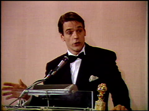 Jeremy Irons at the 1991 Golden Globe Awards at the Beverly Hilton in Beverly Hills California on January 19 1991