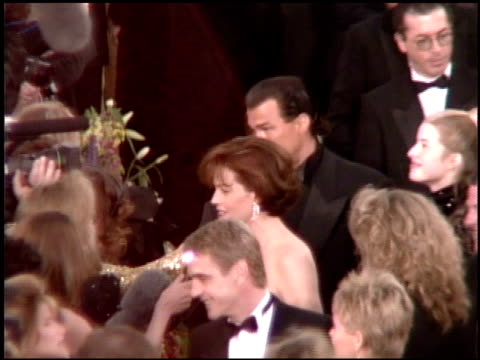 jeremy irons at the 1995 academy awards arrivals at the shrine auditorium in los angeles california on march 27 1995 - 67th annual academy awards stock videos & royalty-free footage