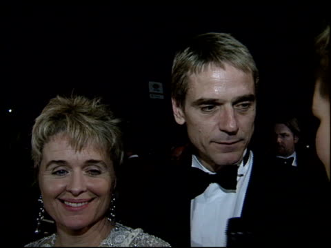 jeremy irons at the 1995 academy awards morton party at morton's in west hollywood california on march 27 1995 - 67th annual academy awards stock videos & royalty-free footage