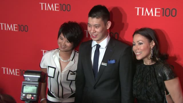 jeremy lin and ann curry at time 100 gala at frederick p. rose hall, jazz at lincoln center on april 24, 2012 in new york, new york - ann curry stock videos & royalty-free footage