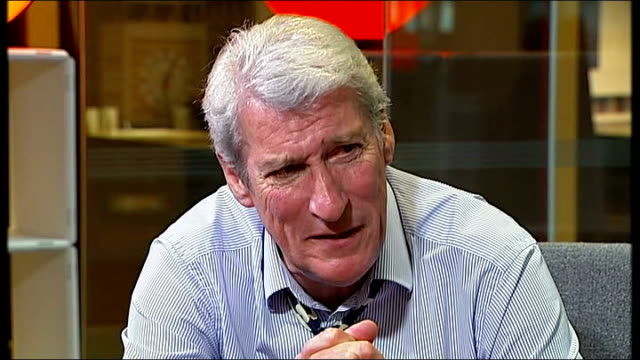 jeremy paxman presents his final 'newsnight'; jeremy paxman interview sot - jeremy paxman stock videos & royalty-free footage