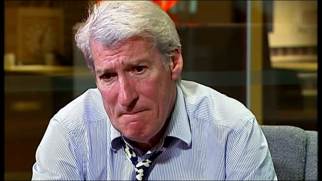 vídeos y material grabado en eventos de stock de jeremy paxman song and interview; jeremy paxman interview sot - jeremy paxman