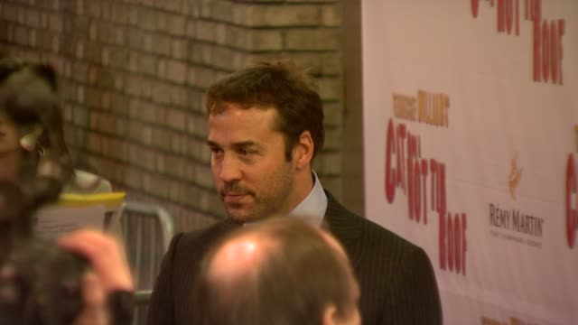 jeremy piven at the opening night of 'cat on a hot tin roof' at new york ny. - jeremy piven stock videos & royalty-free footage