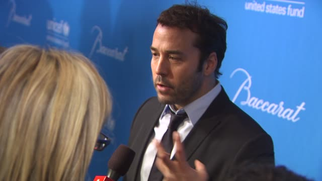 Jeremy Piven at the UNICEF Ball Honoring Jerry Weintraub at Beverly Hills CA