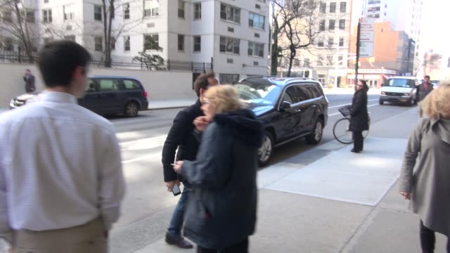 jeremy piven going into the huffington post in celebrity sightings in new york, - jeremy piven stock videos & royalty-free footage