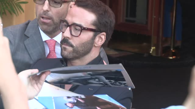 jeremy piven greets fans while departing the entourage premiere in westwood in celebrity sightings in los angeles, - jeremy piven stock videos & royalty-free footage