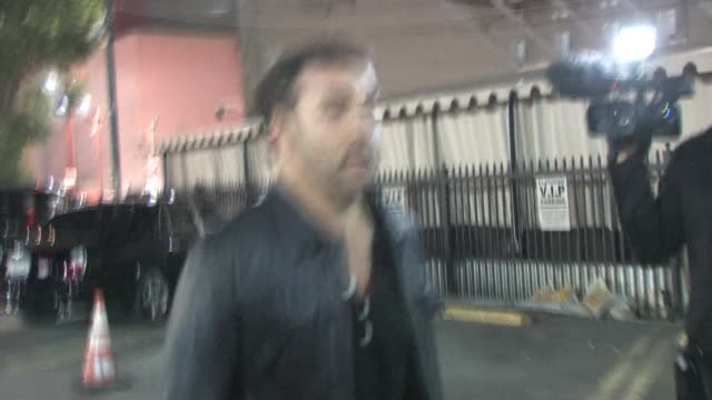 jeremy piven leaving bardot in hollywood at the celebrity sightings in los angeles at los angeles ca. - jeremy piven stock videos & royalty-free footage
