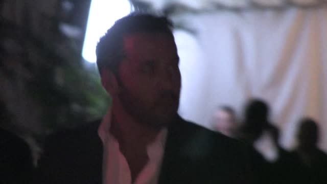 jeremy piven leaving chateau marmont in west hollywood in celebrity sightings in los angeles - jeremy piven stock videos & royalty-free footage