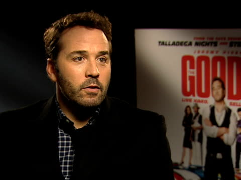 jeremy piven on being a huge ham and how he can overact in this role, on being a stage actor, how he studied in london, how judi dench is his biggest... - jeremy piven stock videos & royalty-free footage