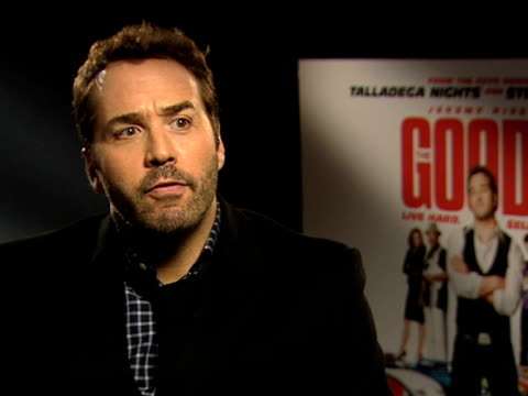 jeremy piven on don reddy on his sales pitch on his delusional attitude on british comedy at the the goods live hard sell hard interview at london... - sales pitch stock videos & royalty-free footage