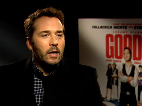stockvideo's en b-roll-footage met jeremy piven on how difficult it was not to laugh on set, on james brolin and his character, and on barbra streisand's reaction to the movie at the... - barbra streisand
