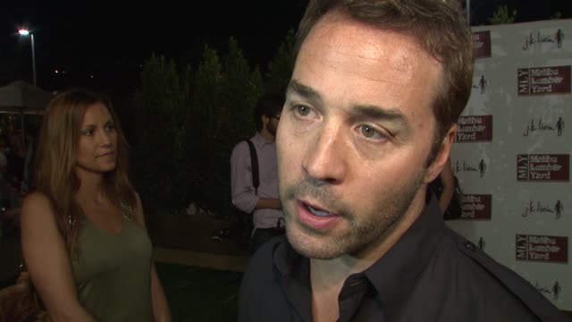jeremy piven on what he loves about malibu, on the new shopping center and on earth day and environmentally concious living and building at the... - jeremy piven stock videos & royalty-free footage