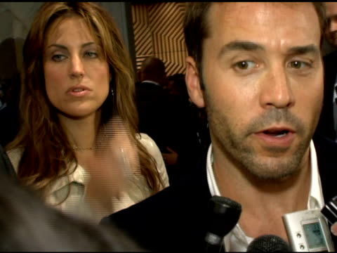 jeremy piven on why he's proud to be a part of the show, the positive word of mouth and 'the sopranos' edie falco and james gandolfini as acting... - jeremy piven stock videos & royalty-free footage