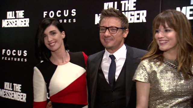 Jeremy Renner and Rosemarie DeWitt at Kill The Messenger New York Premiere Presented By Focus Features at Museum of Modern Art on October 09 2014 in...
