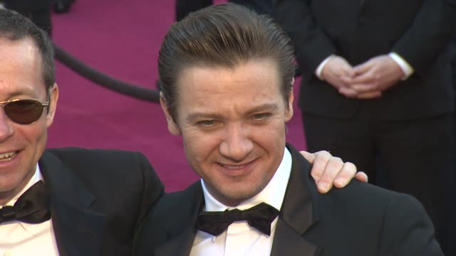 Jeremy Renner at 85th Annual Academy Awards Arrivals on 2/24/13 in Los Angeles CA