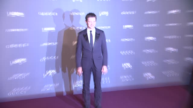 Jeremy Renner at LACMA Hosts 2012 Art Film Gala Honoring Ed Ruscha And Stanley Kubrick Presented By Gucci on 10/26/12 in Los Angeles CA