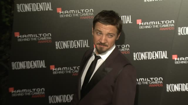 Jeremy Renner at the 7th Annual Hamilton Behind The Camera Awards in Los Angeles CA on 11/10/13