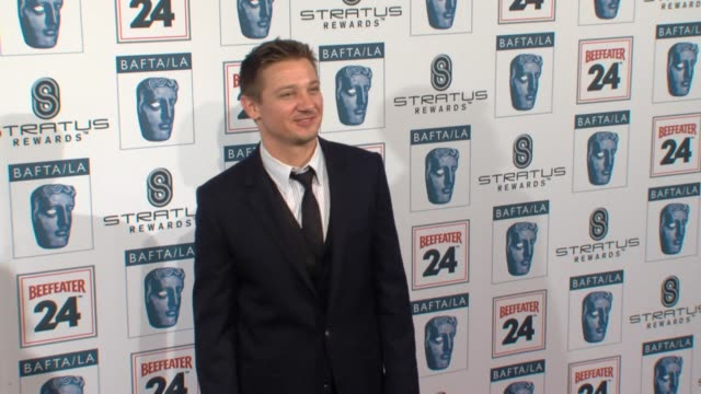 jeremy renner at the bafta la's 16th annual awards season tea party at beverly hills ca - bafta la tea party stock videos and b-roll footage