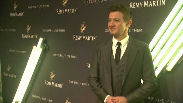 Jeremy Renner at The House Of Remy Martin One Life Live Them Launch Event With Jeremy Renner at ArtBeam on October 20 2015 in New York City