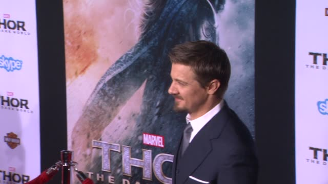 Jeremy Renner at Thor The Dark World Los Angeles Premiere in Hollywood CA on