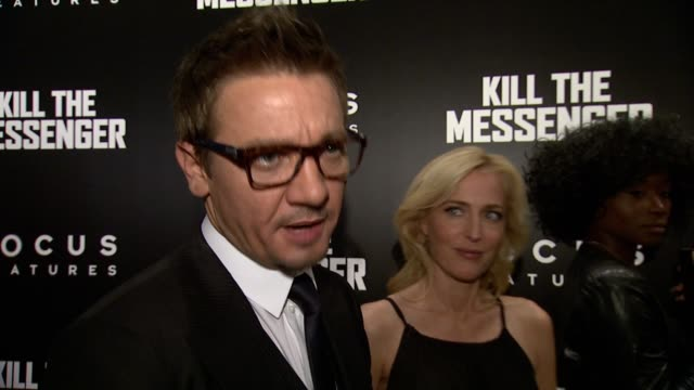 INTERVIEW Jeremy Renner on his new film preparing for the role and learning about journalism at Kill The Messenger New York Premiere Presented By...