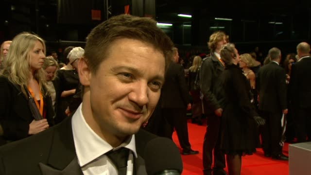 Jeremy Renner on loving being nominated on red carpet events at the The Orange British Academy Film Awards at London England