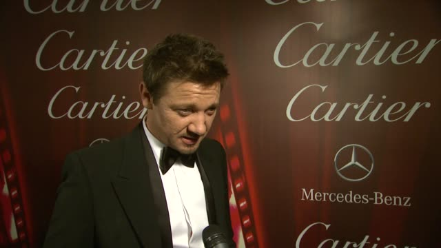 INTERVIEW Jeremy Renner on what he most enjoyed about working with his cast mates at the 25th Annual Palm Springs International Film Festival Awards...