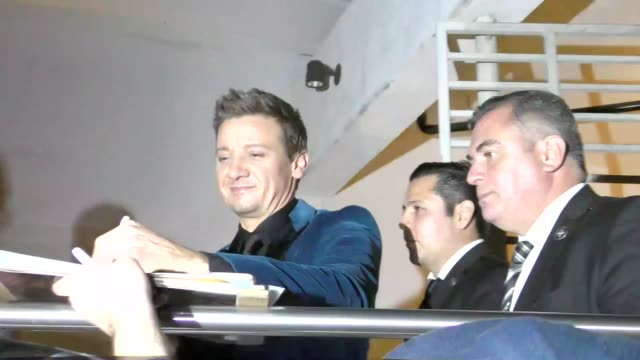 Jeremy Renner outside The Founder Premiere at ArcLight Theatre in Hollywood in Celebrity Sightings in Los Angeles