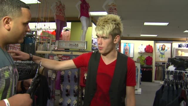 jeremy rosado and colton dixon at american idol season 11 contestants appear at los angeles kohl's for american idol's 'authentic icon collection in... - american idol stock videos and b-roll footage