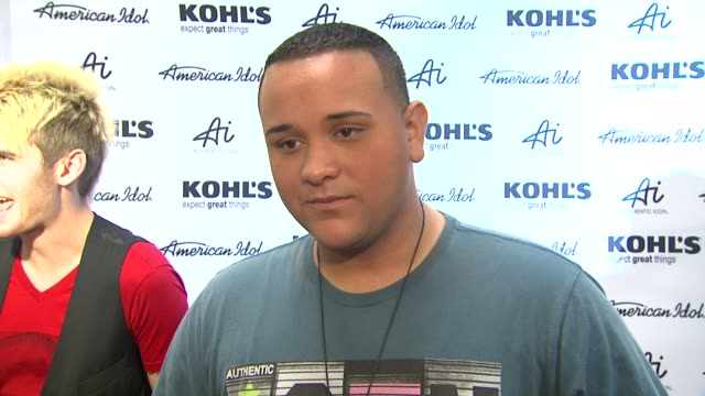 jeremy rosado on his style and what's next at american idol season 11 contestants appear at los angeles kohl's for american idol's 'authentic icon... - american idol stock videos and b-roll footage