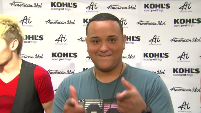 jeremy rosado on kohl's 50th birthday kohl's fashion line and fashion inspirations at american idol season 11 contestants appear at los angeles... - american idol stock videos and b-roll footage