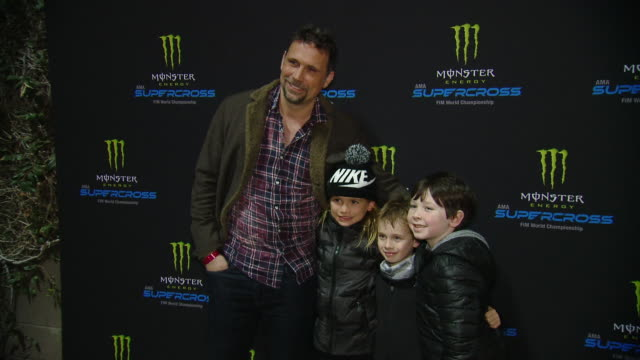 jeremy sisto at monster energy supercross vip event at angel stadium on january 18 2020 in anaheim california - angel stadium stock videos & royalty-free footage