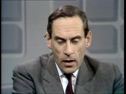 jeremy thorpe interview on possible general election; england: london: jeremy thorpe mp studio interview sot - mp stock-videos und b-roll-filmmaterial